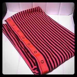 Striped orange and navy lululemon vinyasa scarf